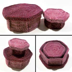 Crochet boxes with lids | Crochet | Pinterest