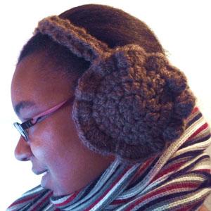 crochet ruffle earmuffs