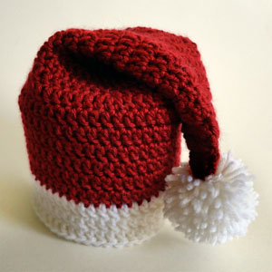 crochet santa hat toilet paper roll cover