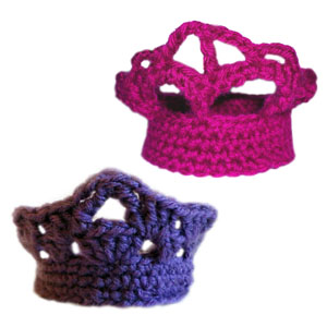 crochet tiara set
