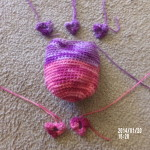 Andrea used a nice combo of variegated yarn.