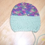 Rose is using a variegated yarn plus a solid.