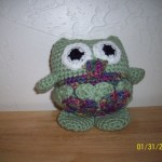 Rose is the first to share her finished owl.