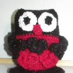 Check out Evelyn's black and pink owl.