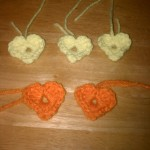 These are Mindy's hearts ready to be attached.