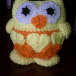 Mindy's owl looks great in yellow and orange.