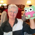 Carolynn's owl also from the crochet club.