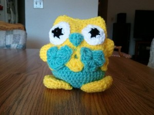 Mary's owl from Happy Hookers Crochet Club .