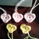 These pink and yellow hearts are Shirley's.