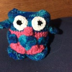 Take a look at Susan's owl in blue and pink.