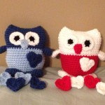 Here are Ali's two cute owls for her boys.