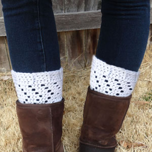 crochet chevron boot cuffs
