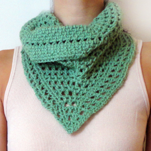 crochet lacy tunisian scarf