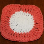 Mindy also crocheted a dishcloth in 2 colors.