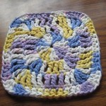 I love the colors in Lillie's dishcloth.