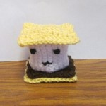 Lillie crocheted a smore with french knot eyes.