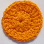 Lillie also made a bright orange scrubbie.