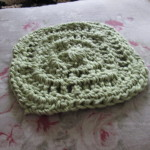 Here's Janette's washcloth for week 2.