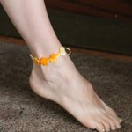 Here is Mindy's anklet made with thread.
