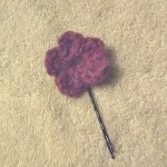 Emma's second pic is her purple flower hair pin.
