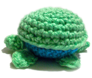 crochet turtle box
