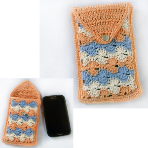 crochet rip tide phone pouch