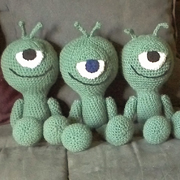 Look at this cute trio made with the alien pattern.