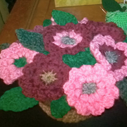 These lovely flowers are made with the potpourri flower pot pattern.