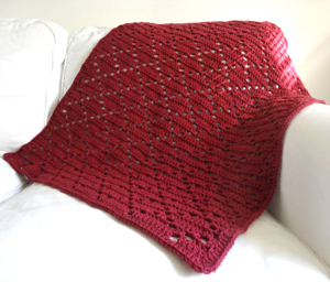 crochet diamond eyelet blanket
