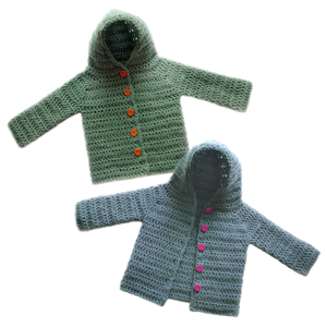 aeb44b2c329 Crochet Spot » Blog Archive » Crochet Pattern  Hooded Baby Cardigan ...
