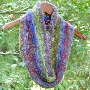 crochet wildflower cowl