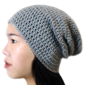 Crochet Stitches For Beanies : Slouchy Beanie Crochet Pattern for Pinterest