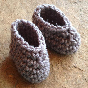 crochet doll booties