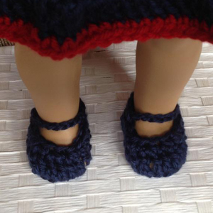 crochet doll shoes