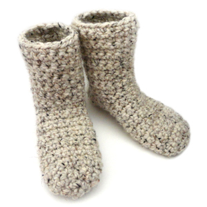 crochet slipper booties