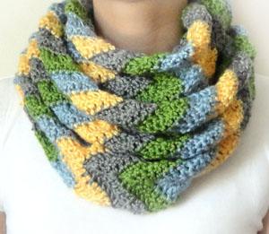 Crochet Spot Blog Archive Crochet Pattern Chevron Infinity