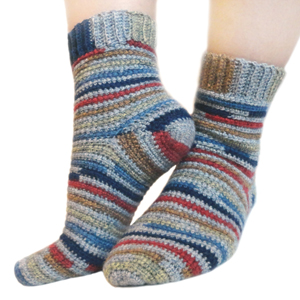 crochet adjustable quick socks