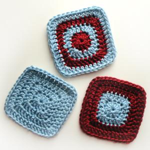 crochet classic square coasters