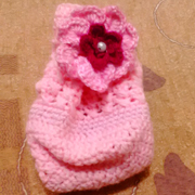 Here is Faiza's finished crochet project in pink.