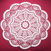 Vicki just finished crocheting this gorgeous doily.