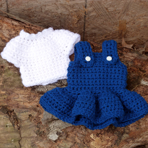 crochet doll blouse and jumper