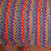 Sandy's striped granny blanket looks great.
