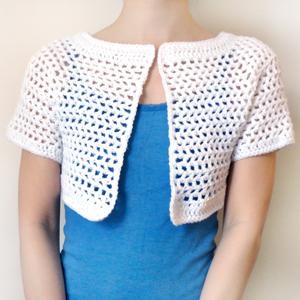 crochet mesh bolero