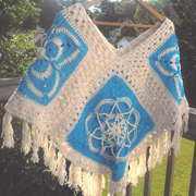 Adrienne just finished her crocheted poncho.