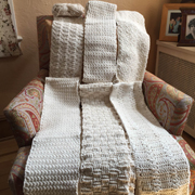 Marya's been adding panels to her sampler afghan for 4 years.