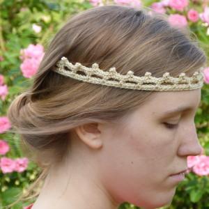 Crochet spot blog archive crochet pattern vintage tiara vintage tiara headband dt1010fo