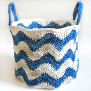 crochet chevron basket