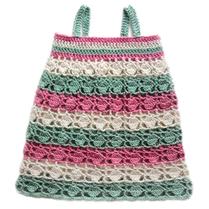 crochet circles and stripes baby dress