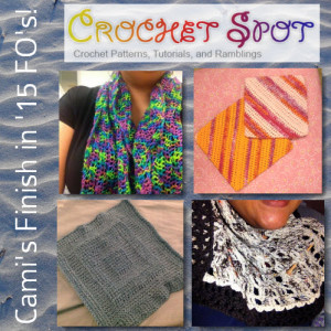 @artlikebread Crochet Spot Finish in 15 Caissa McClinton Four FO's