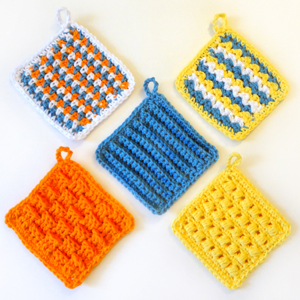 crochet square scrubbie set
